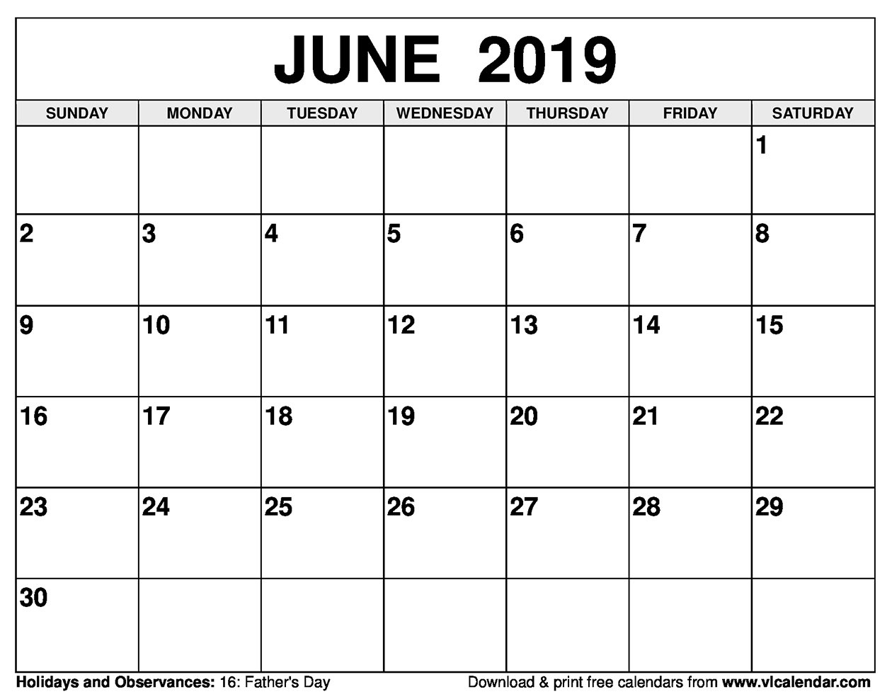 picture about Printable June called June 2019 Calendar Printable Templates